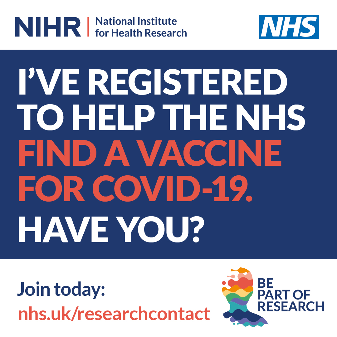 I've registered to help the NHS find a vaccine for COVID-19