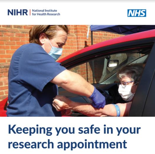 Keeping you safe in your research appointment leaflet