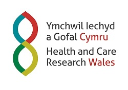 Health and Care Research Wales full colour logo CMYK
